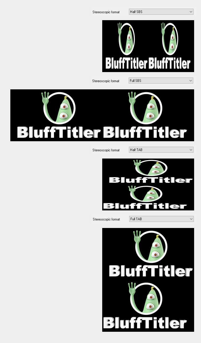 Stereoscopic formats | BluffTitler Community